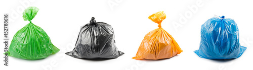 Photo Collage of garbage bags