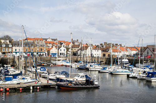 Photo  A view of the harbour at Anstruther, Fife, East Neuk, Scotland