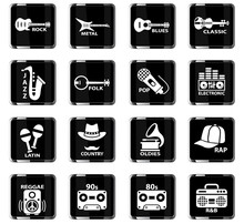 Musical Genre Web Icons