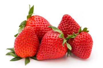 Strawberry isolated on white background. Fresh berry.