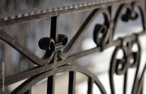 Canvas Print Wrought iron railings and handrail