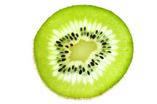 Fresh Slice Kiwi Fruit Isolate...