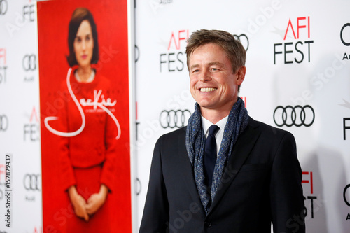Actor Caspar Phillipson, who portrays John F  Kennedy, poses
