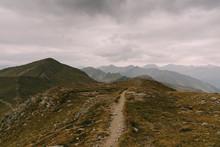 Blick Auf Dem Grenzkamm Zwischen Italien Und Österreich