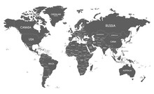Political World Map Vector Ill...