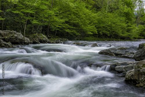 Printed kitchen splashbacks River Running Water