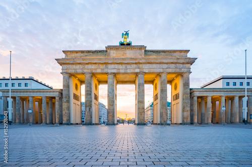 Poster Berlin Sunrise in Berlin, The Brandenburg Gate in Berlin, Germany
