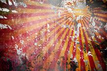 Graffiti Paint On Metal Backgr...