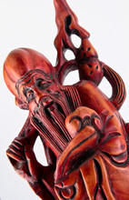 Wood Monk Sculpture