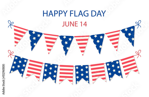 Fotografie, Obraz Cute USA festive bunting flags in traditional colors ideal as american holidays