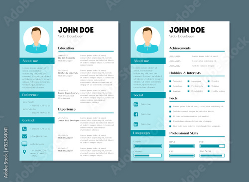 Company Application Cv Resume Template Vector Acheter Ce Vecteur
