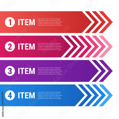 Photo  Vector infographics with ribbons and arrows