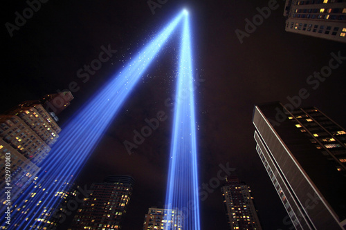 The Tribute In Lights Illuminates The Sky Over Lower Manhattan On The Ninth  Anniversary Of The