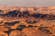 Sunset In The Negev Desert. Ma...