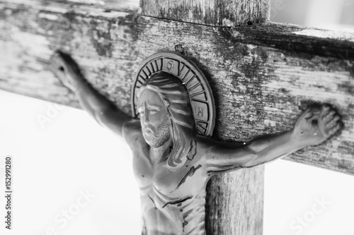 crucifixion of Jesus Christ as a symbol of resurrection and