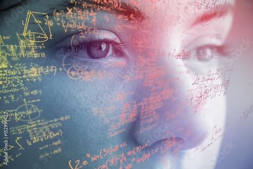 Composite image of mathematical complicated formulas