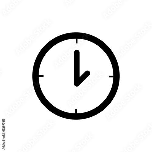 Pictogram clock icon  Black icon on white background  - Buy