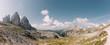Die Drei Zinnen in den Dolomiten, Italien