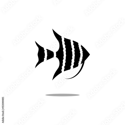 Photo Angelfish vector icon