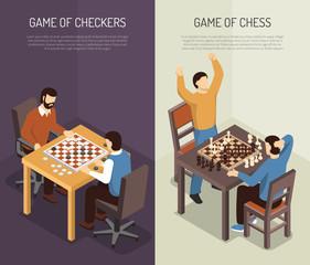 Board Games Vertical Banner Set
