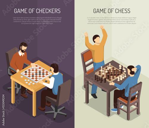 Fotografie, Obraz  Board Games Vertical Banner Set