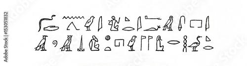 Fényképezés Egyptian hieroglyphs