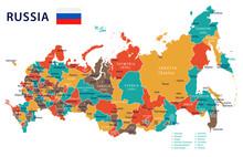 Russia - Map And Flag – Illu...