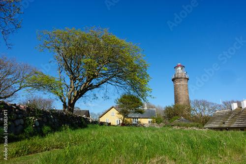 beautiful summer day on the nature reserve island of hirsholmene Fototapet
