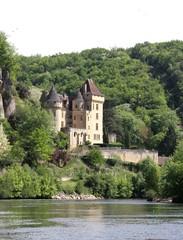 Fototapeta na wymiar La Roque-gageac, village classé sur la Dordogne,Périgord noir,pays Sarladais
