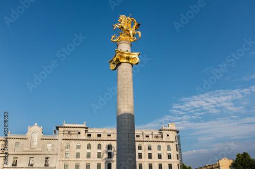 Foto op Plexiglas Artistiek mon. Freedom Monument, Freedom Square, Tbilisi, Georgia, Eastern Europe
