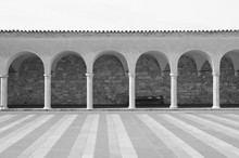 Arched Walkway To Basilica Of Saint Francis In Assisi, Italy