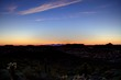 The desert just after sunset with North Phoenix below.
