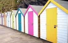 Row Of Colourful Multi Colored...