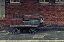 Old Luggage On Llangollen Rail Station,Wales