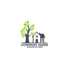 Home And Tree Logo Template De...