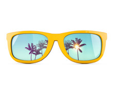 Summer Sunglasses With Tropica...