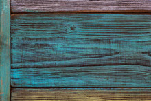 Background, Wood Texture. Beautiful Texture Cut Down A Tree, The Patterns And Swirls. Vintage Style. Artistic Antiqued And Painted Wood Planks