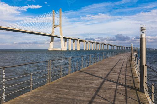 Photo  Vasco da Gama bridge in Lisbon