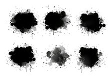 Abstract Paint Splashes Set Fo...