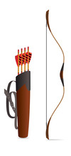 Archery Bow With Arrows In A B...