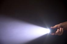 Black Flashlight A Beam Of Lig...
