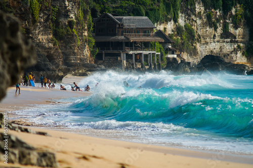 Photo  Ocean wave on balinese Dreamland beach