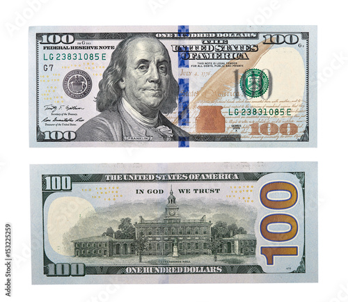 Fototapeta Dollars Closeup Concept. American Dollars Cash Money. One Hundred Dollar Banknotes. obraz