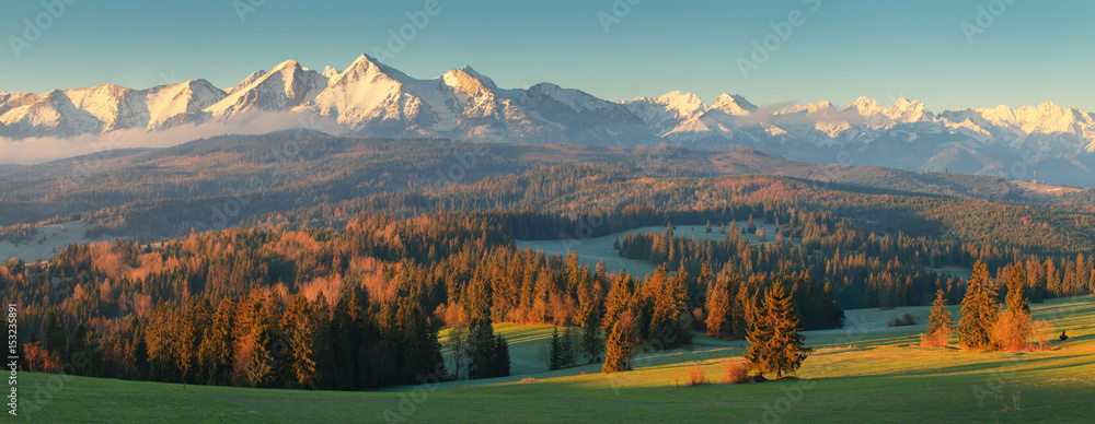 Fototapety, obrazy: Summer morning in mountains