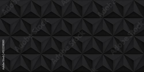 Vector triangles retro black background, mesh gradient, geometric wallpaper, dark pattern