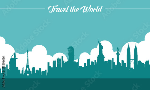 Photo  To travel is to live style background