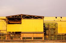 Yellow Facade Of Industrial Building