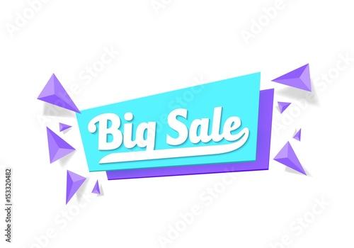illustration of vector sale tag template big sale promotion banner