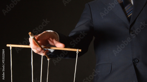 MANIPULATION: Businessman manipulating Wallpaper Mural