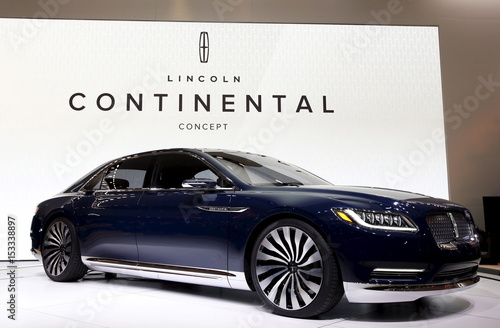 A Lincoln Continental Concept Car Is Shown At The 2015 New York